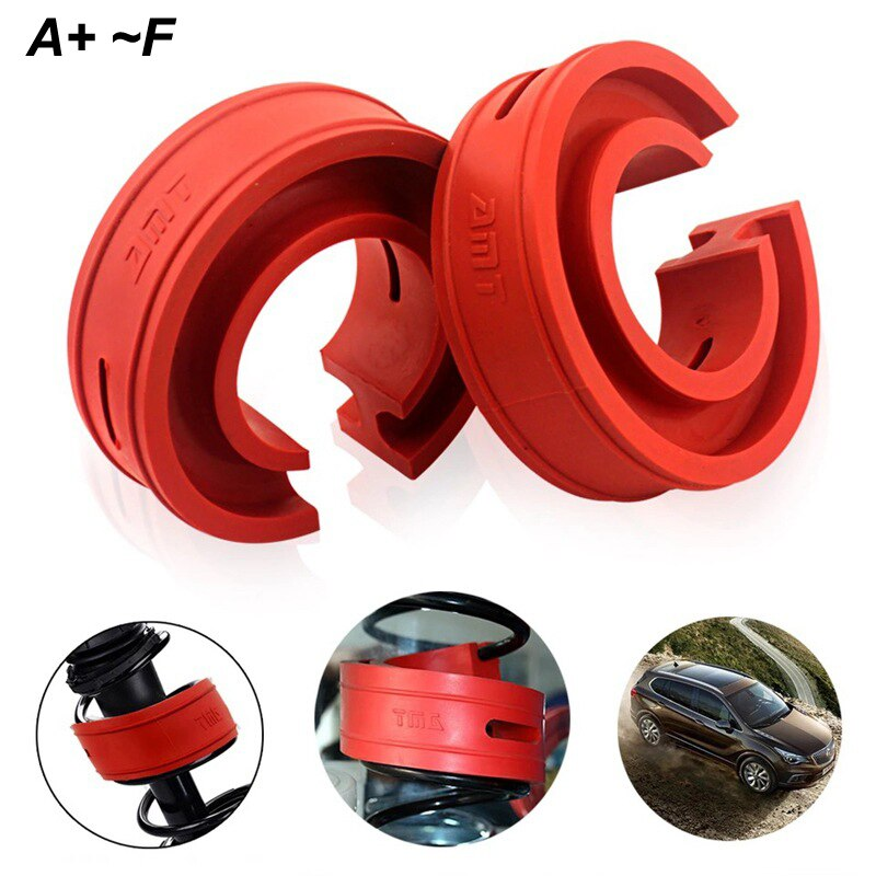 2 piezas de amortiguador Universal de coche para el amortiguador del coche de resorte de parachoques de energía Auto-búferes A/B/C/D/E/F tipo de muelles amortiguador