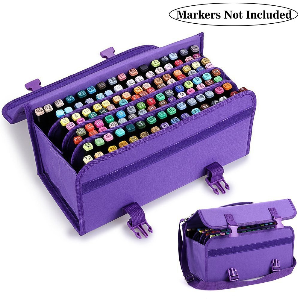 120 Slots Marker Case High Quality Oxford Cloth And PP Plastic Board Sketch Storage Bag 80/60/120 Painting Bag