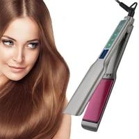 resuxi 1 75 inch touch screen hair straightener titanium electric straight flap iron hair straightener with digital display