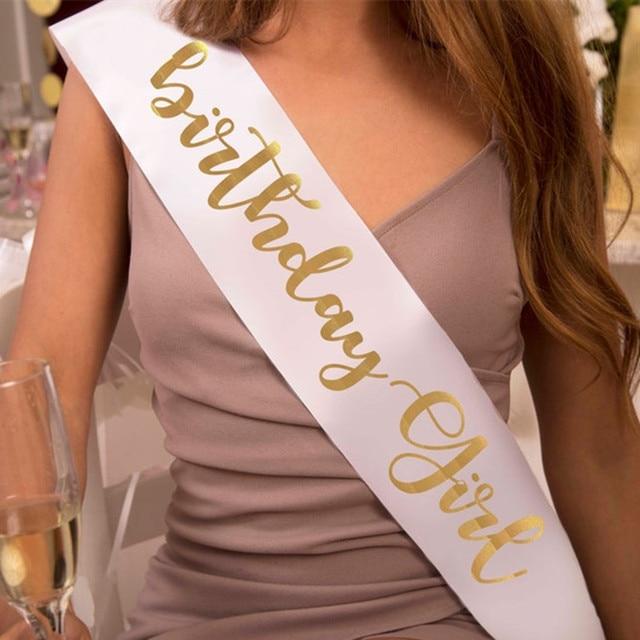 Custom Satin Sash. Birthday Sash. Birthday Girl Sash. Birthday Gift. Personalized Wedding Sash. Bride Party Decoration Supplies