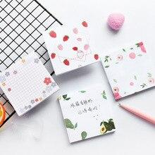 80 Pagina S Koreaanse Kawaii Memo Pads Avocado Aardbei Leuke Sticky Notes Creative Diy Notepad Kantoor School Briefpapier Leveringen