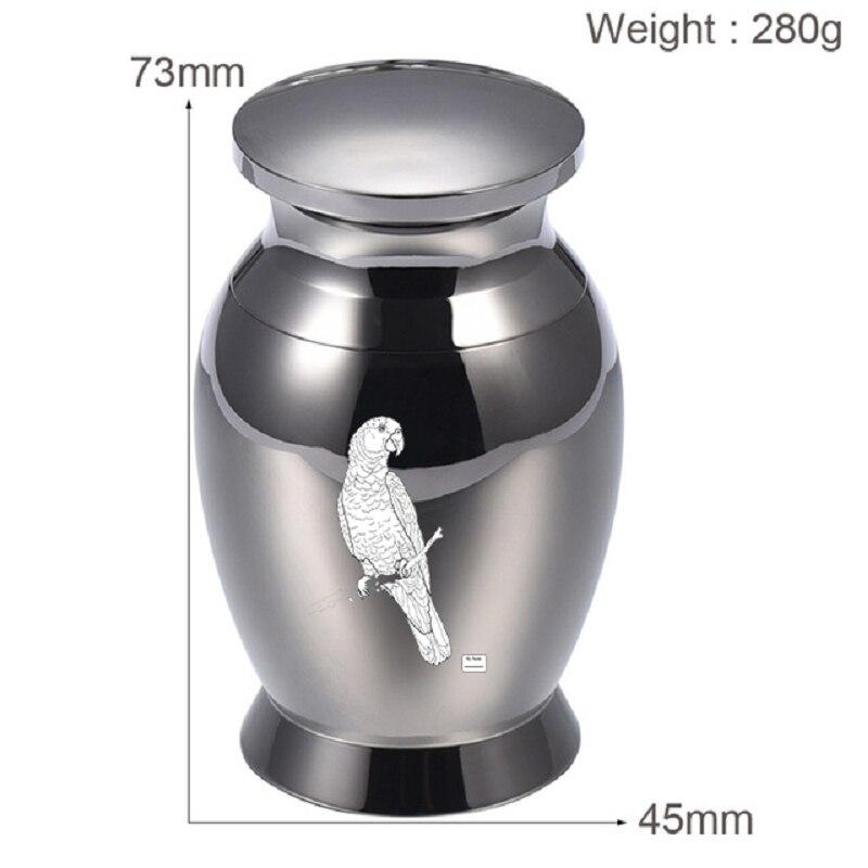 IJU028 Waterproof Royal Blue Stainless Steel Urns Pet Human Memorial Ashes Keepsake Cremation Urns+Display Box
