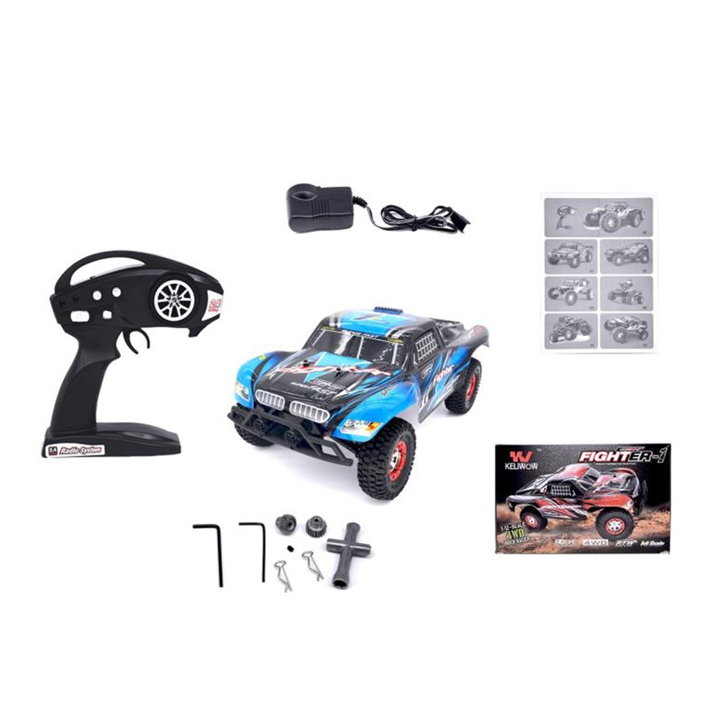 9125 2.4G 46KM/H High Speed RC Car 1/10 Scale Racing Car Supersonic Truck Off-Road Vehicle Buggy Electronic Toy enlarge