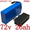 Batterie Lithium 72V 25ah 2000/3000W pour vélo et Scooter électrique avec cellules panasonic