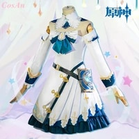 hot game genshin impact barbara cosplay costume fashion combat dress female halloween carnival party role play clothing xs xl