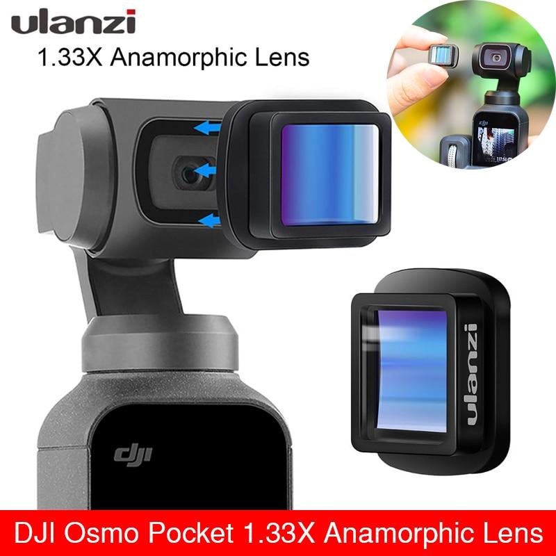 Ulanzi OP-11 Osmo Pocket 1.33X Anamorphic Lens for DJI Pocket 1 2 Movie Lens Wide Lens Filmmaking for OSMO Pocket Action Camera