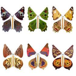 1 pc voando borboleta crianças brinquedo prop mágico fada voando no livro borboleta borracha banda alimentado vento acima borboleta brinquedo