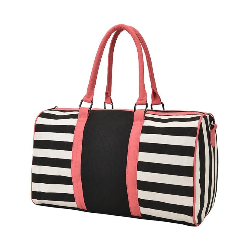 Женские сумки на плечо, вместительные холщовые дорожные сумки, женские полосатые сумки