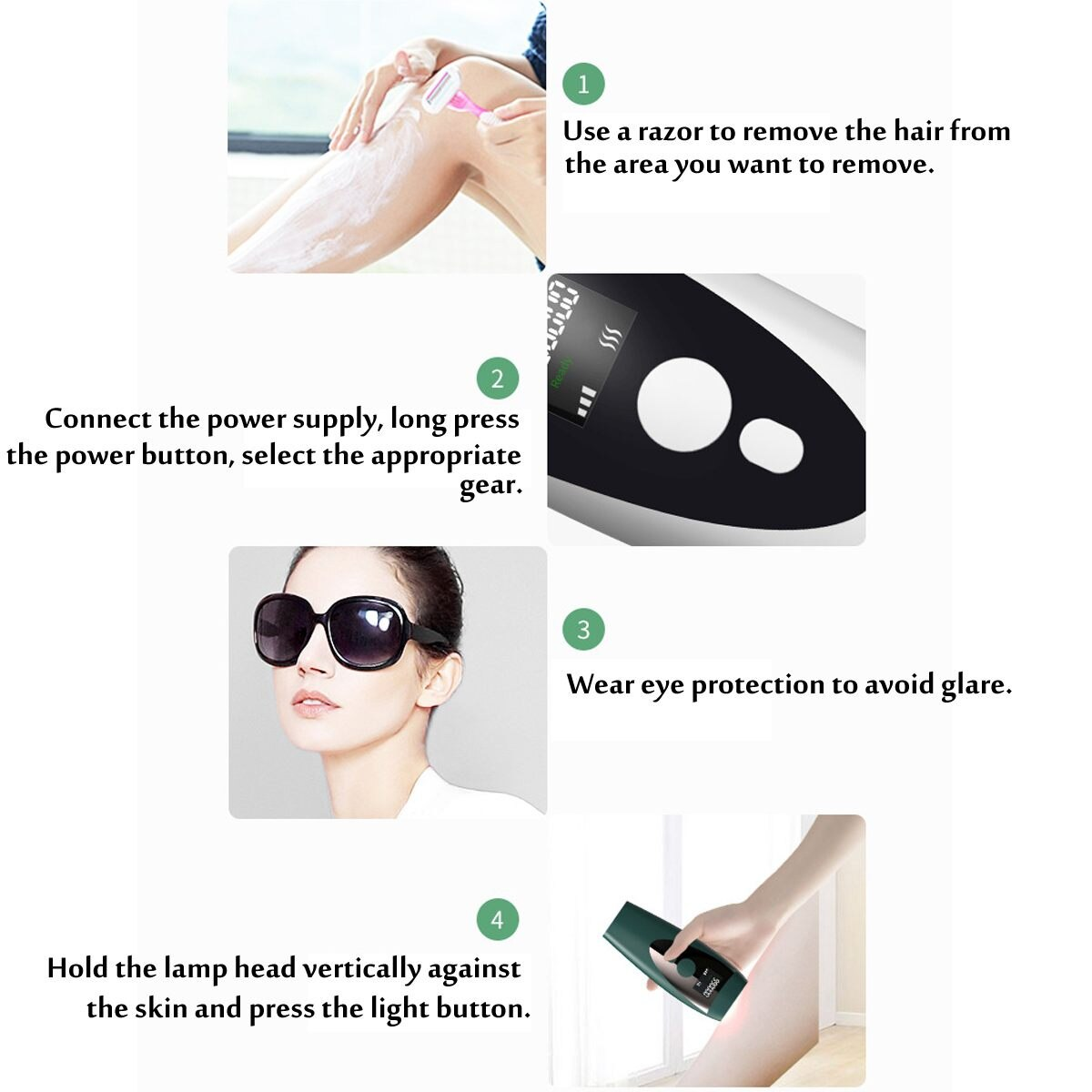 990000 flashes Laser Epilator Photoepilator LCD laser hair removal Household Device Men and Women Facial Private Parts Shaving enlarge