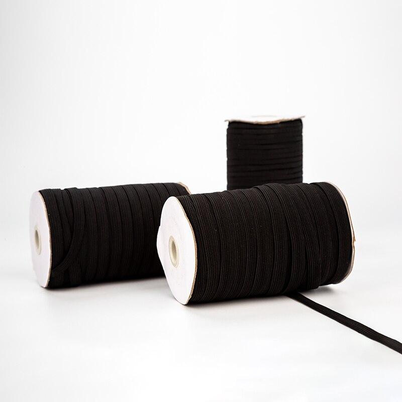 Черная швейная эластичная резинка от кутюр 3 мм 5 мм эластичная лента веревка для шитья эластичная подвесная резинка для ушей эластичная для...