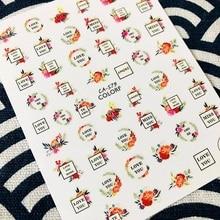 최신 편지 시리즈 CA-579 사랑 u 영어 편지 다채로운 디자인 3d 네일 아트 스티커 네일 데칼 액세서리