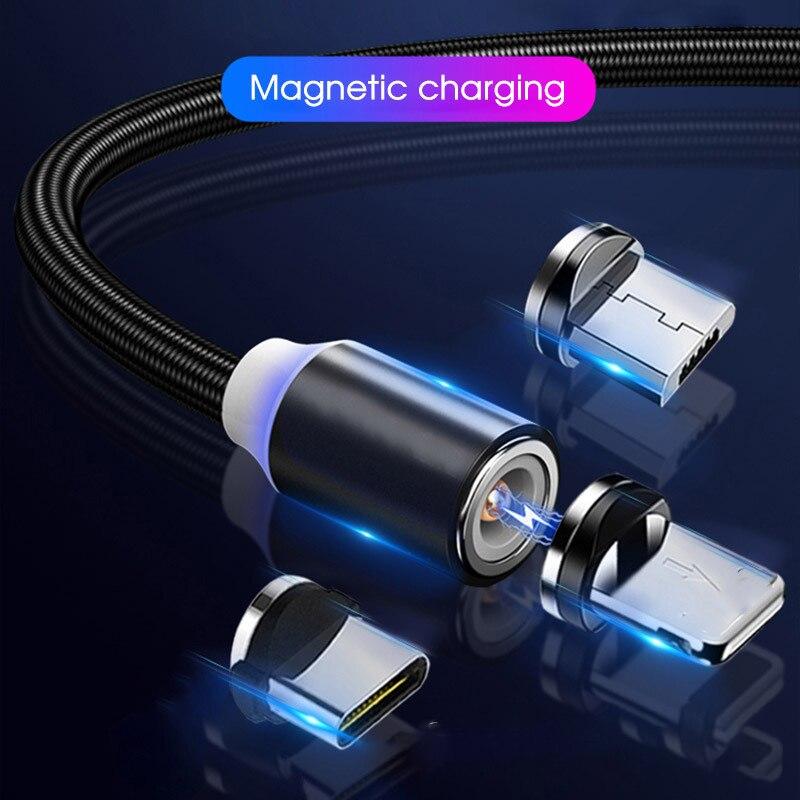 Tutew-Cable magnético de carga rápida USB, Cable de carga rápida tipo C,...