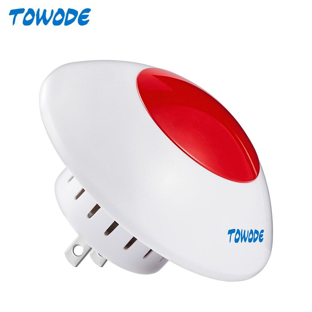 Беспроводная сигнальная сирена TOWODE J009 110 дБ, Громкая Домашняя безопасность, Беспроводная вспышка-стробоскоп для системы сигнализации W18 W20 ...