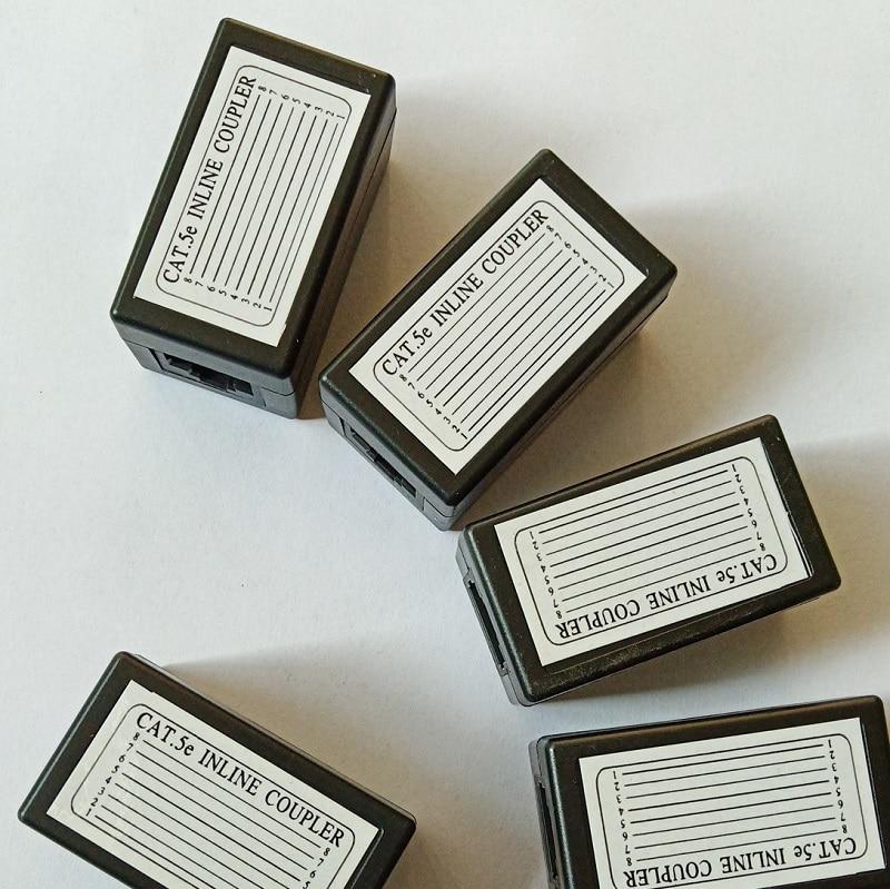 Acoplador de red Ethernet de doble cabeza recta, Cable Lan, extensor, conector...
