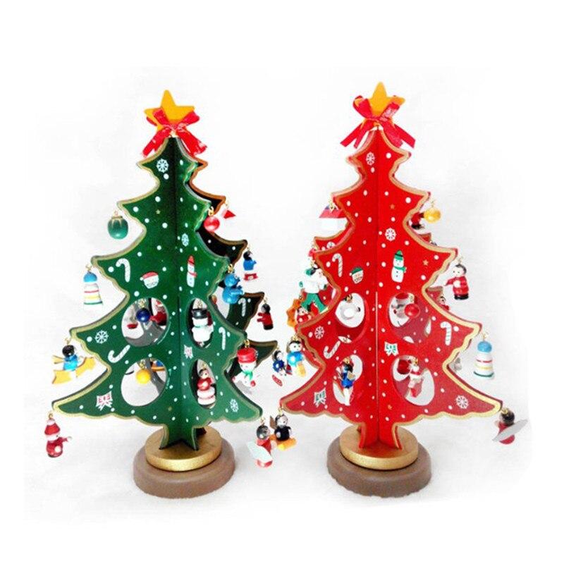 Креативное DIY деревянное украшение для рождественской елки, настольное украшение для елки