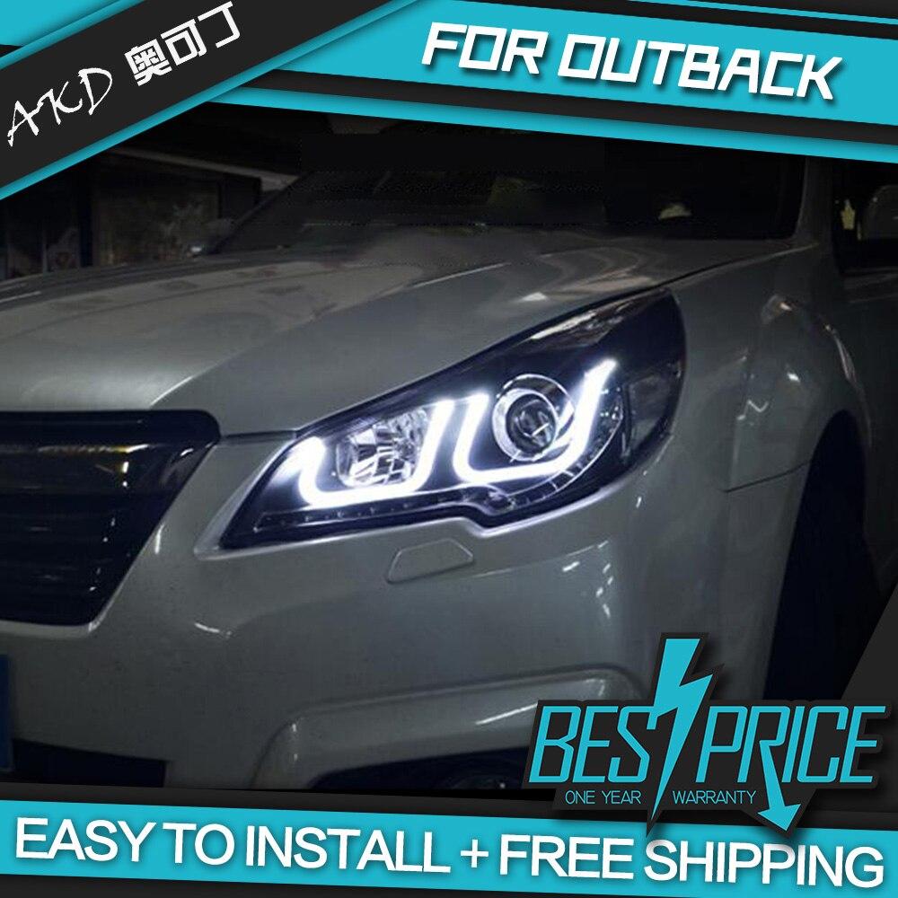 АКД авто стайлинг фары Для Sabaru Outback Legacy фары светодиодный ходовые огни Bi-Xenon луч Противотуманные фары с ангельскими глазками авто