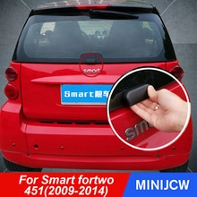 Car Rear Bumper Trunk Back Door Handle Sticker Auxiliary Knob Exterior Decoration For Old Smart fort