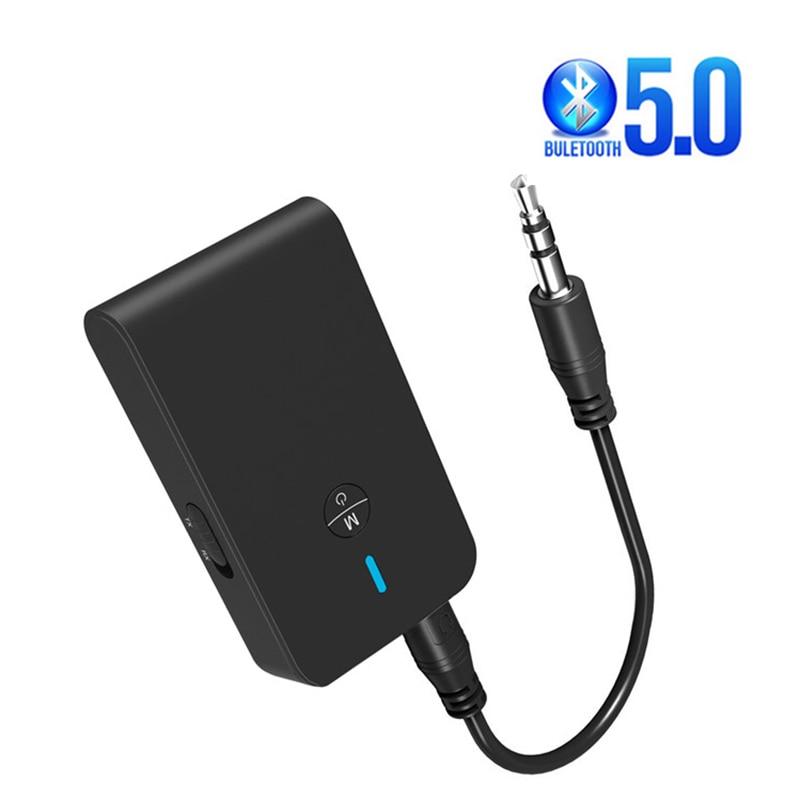 5,0 Bluetooth адаптер беспроводной аудио Bluetooth передатчик приемник для ПК ТВ автомобиля 3,5 мм AUX музыкальный приемник Отправитель Adaptador