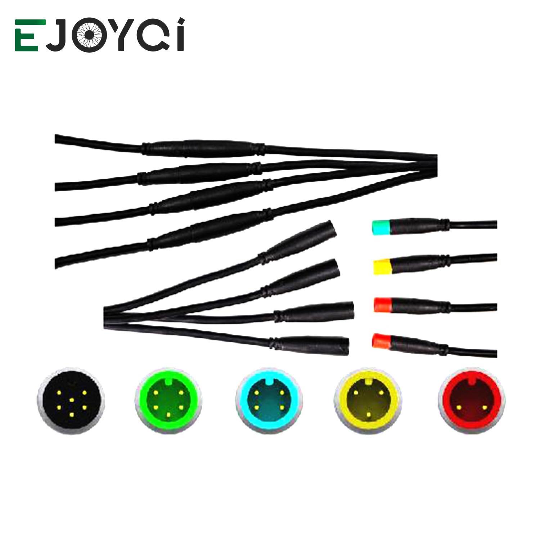 Ejoyqi julet 2 3 4 5 6 pinos 2 geração cabo à prova dwaterproof água bicicleta elétrica cabo de extensão ebike conector para peças ebike
