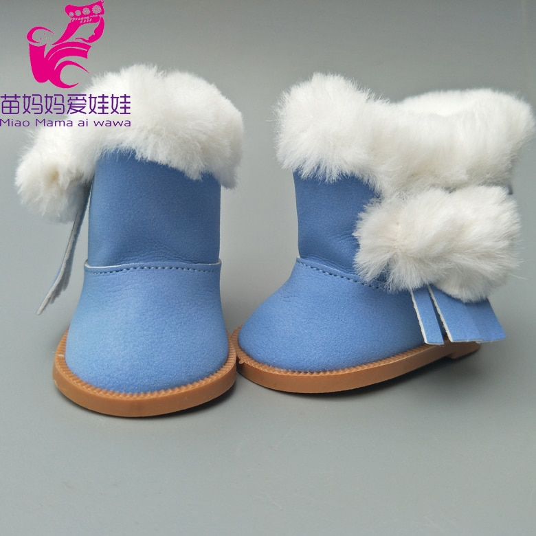 Fur Boots Fits for 18inch Girl Doll 7cm Doll Shoes for 43CM  Reborn Baby Doll Shoes Winter Boots недорого
