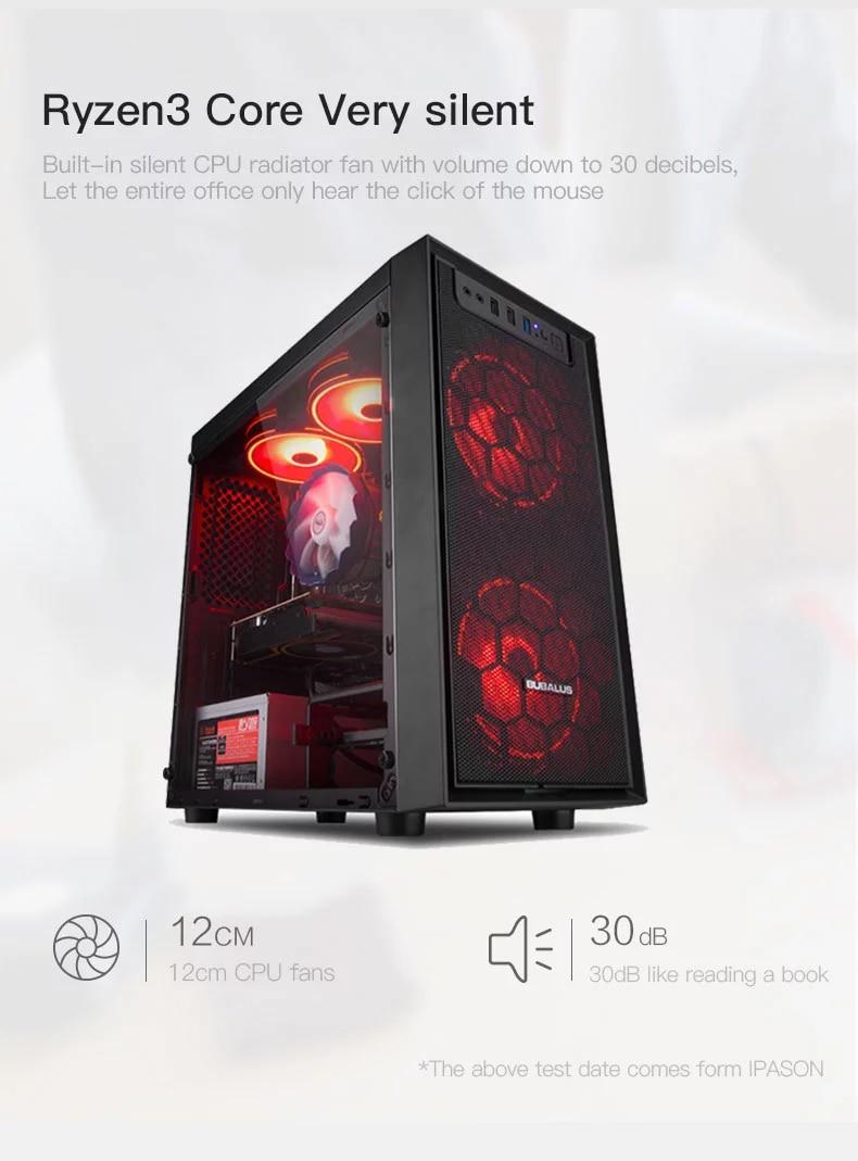 IPASON-E1 mini-Gaming PC AMD Ryzen 3 2200G/3200G DDR4 4G/8G 120G SSD Desktop Computer VGA LOL/CSGO/DOTA For Gamers Computer enlarge