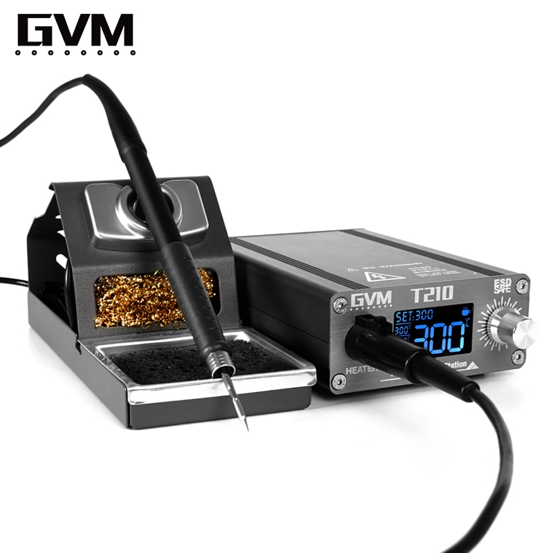 Professional Mobile Phone Repair Constant Temperature GVM T210 Soldering Station Whith Universal C210 Series Soldering Tips enlarge