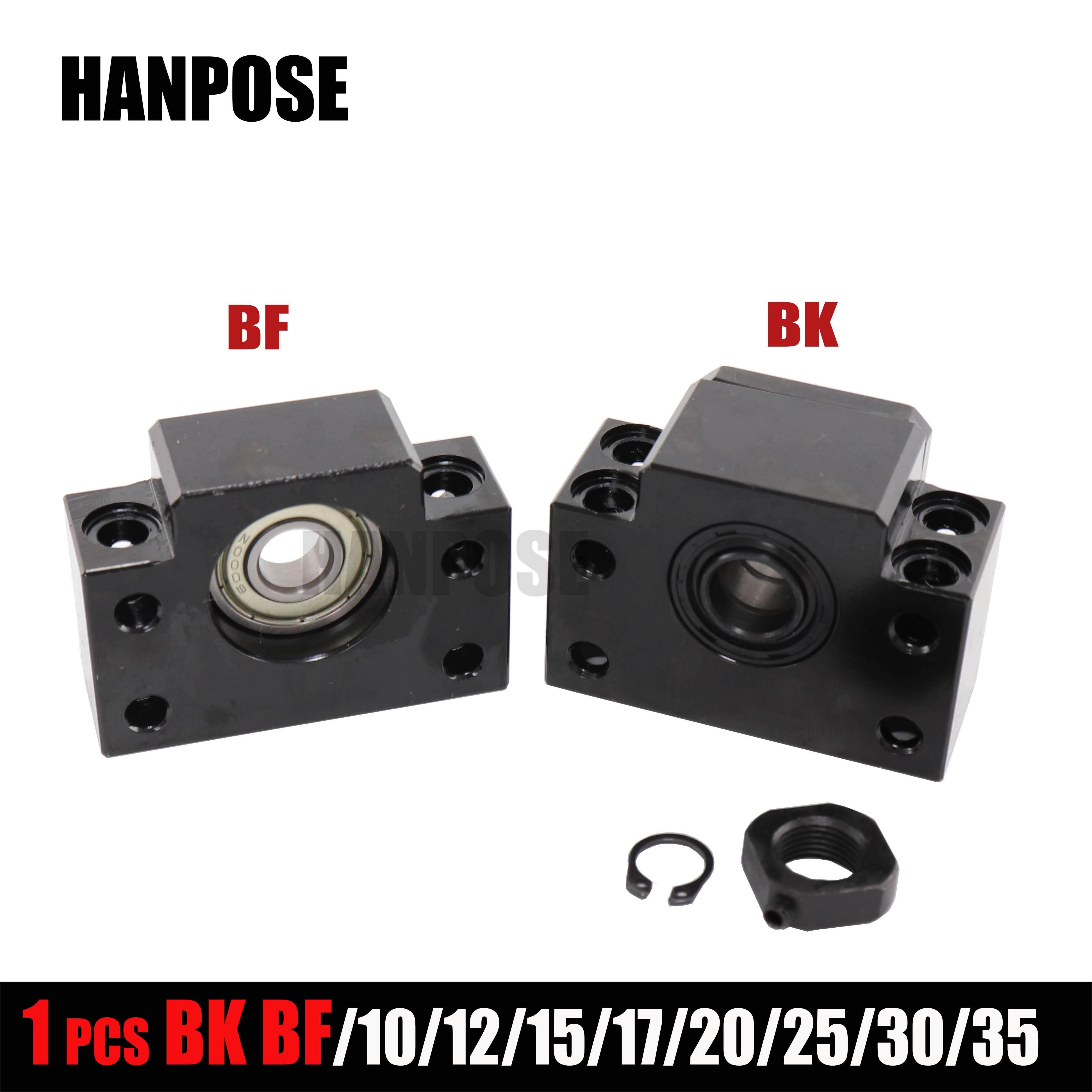 Unidade de apoio BK10 1PCS SFU1204 BF10 BK12 BF12 BK17 BF17 BK20 BF20 para ballscrew