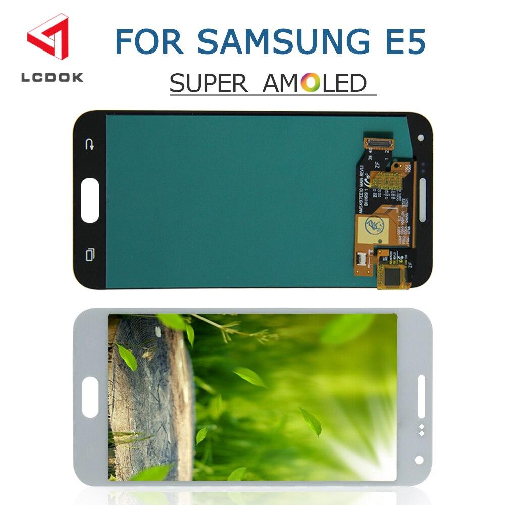 Super AMOLED LCD For Samsung Galaxy E5 E500 E500F E500H E500M LCD Display Touch Screen Digitizer Assembly Panel Pantalla