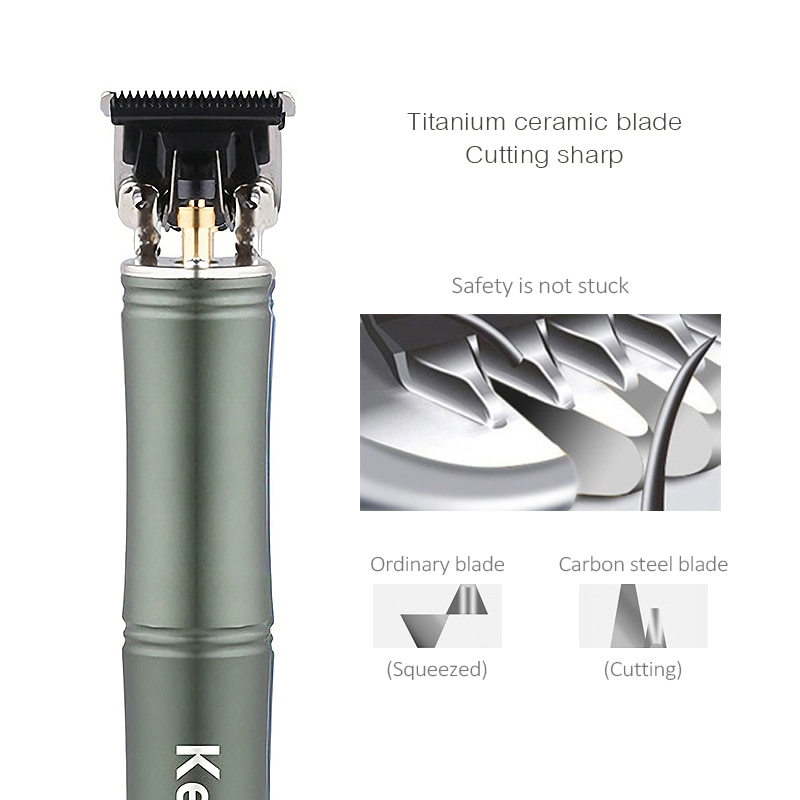 USB Rechargeable 0mm Baldheaded Hair Clipper Metal Electric Hair Trimmer Hollow Blade Cordless Men Barber Hair Cutting Machine enlarge