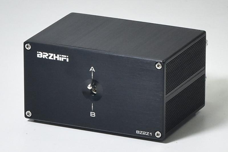 BRZHIFI سبائك الألومنيوم اثنين من المدخلات إخراج واحد مكبر كهربائي المتكلم الجلاد للمسرح المنزلي Systerm التجارية مكبر الصوت