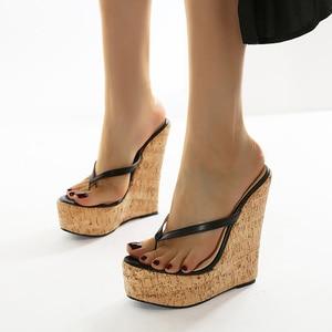 Plus Size High Heels pumps Women Sandals 2021 New Wedges Shoes Women Summer Sandals Wedge Heels Flip Flops Chaussures Femme