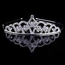 Cristal mariage bal couronne strass cheveux bijoux bandeau mariée voile diadème L4ME