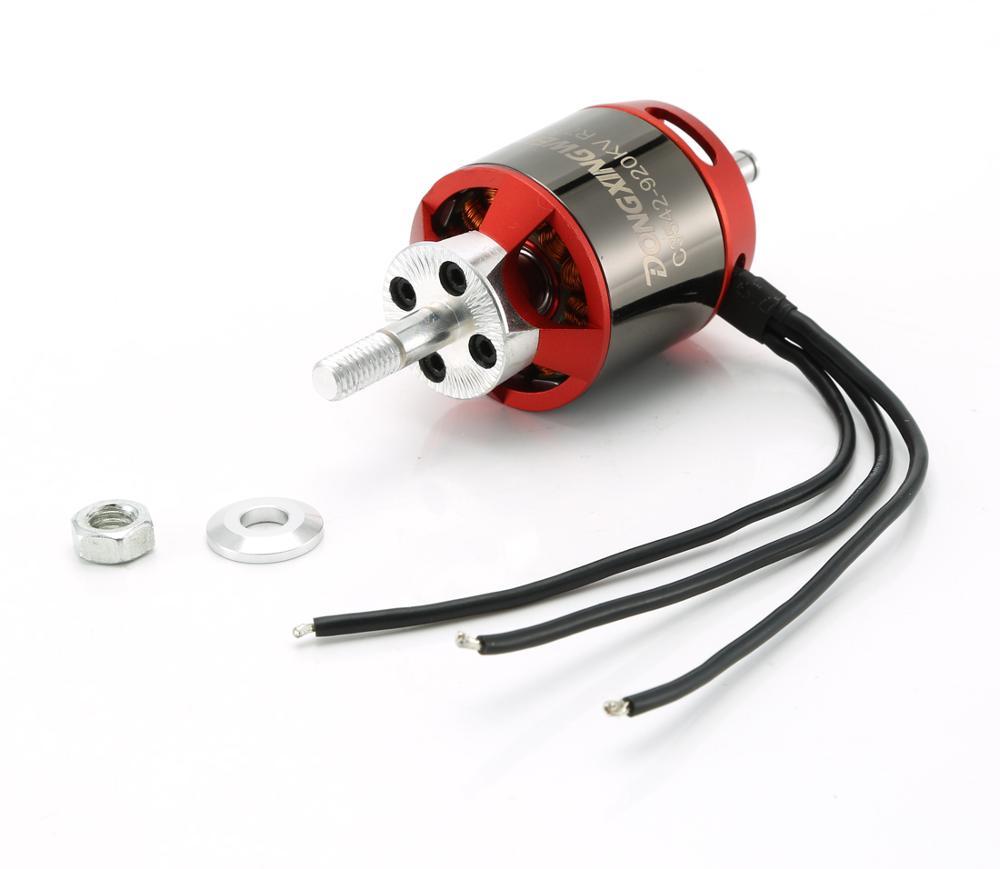 Бесщеточный двигатель DXW C3542 920KV 2-4S 6 мм для радиоуправляемого FPV квадрокоптера с фиксированным крыльем
