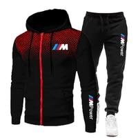 2021 tracksuit men 2 pieces set sweatshirt sweatpants sportswear zipper hoodies casual mens tracksuit mens sets size s 3xl