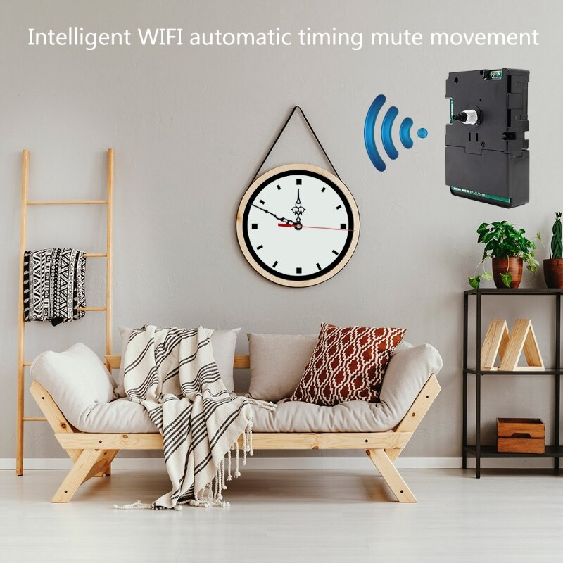 DIY Smart Wifi Clock Movement Automatic Time Adjustment Mute Movement Kits Home Clocks Decorations Accessories