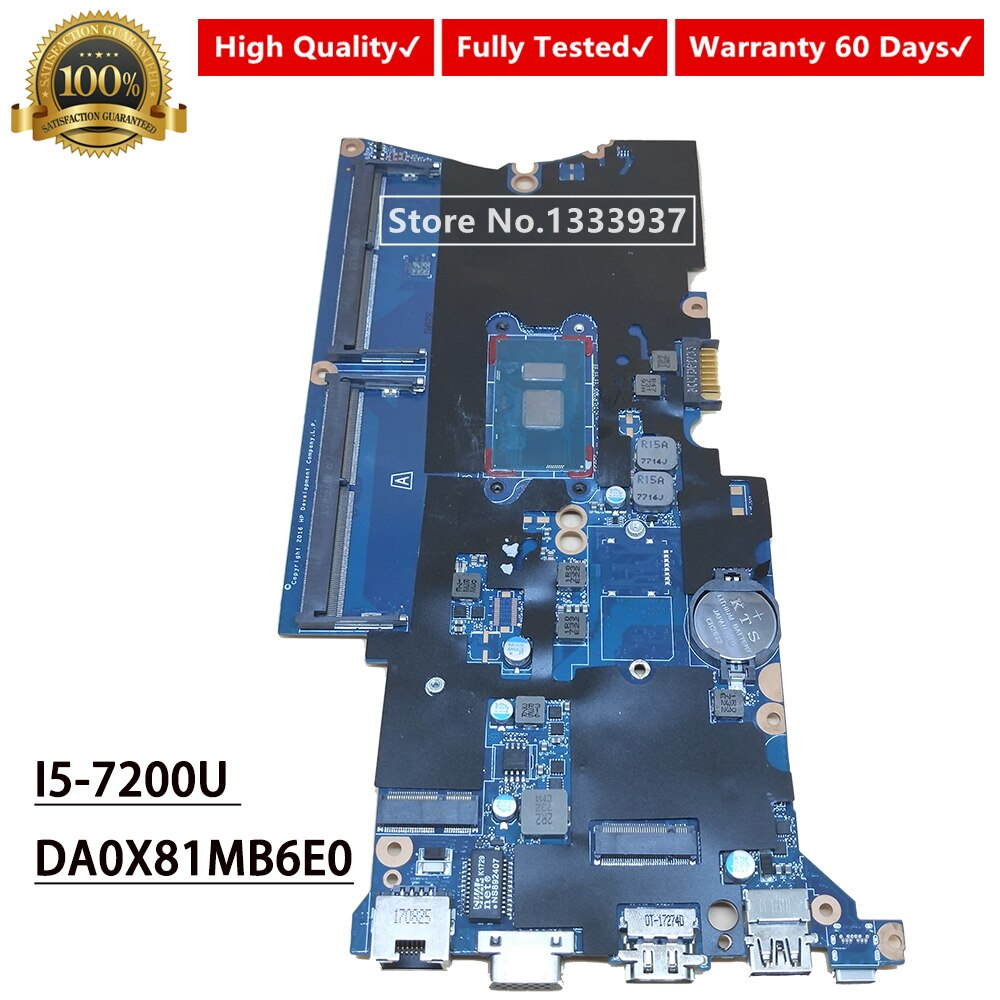 DA0X81MB6E0 Laptop Motherboard For HP Probook 440-G4 430-G4 440 G4 430 G4 MAIN BOARD I5-7200 SR342 SR2ZU