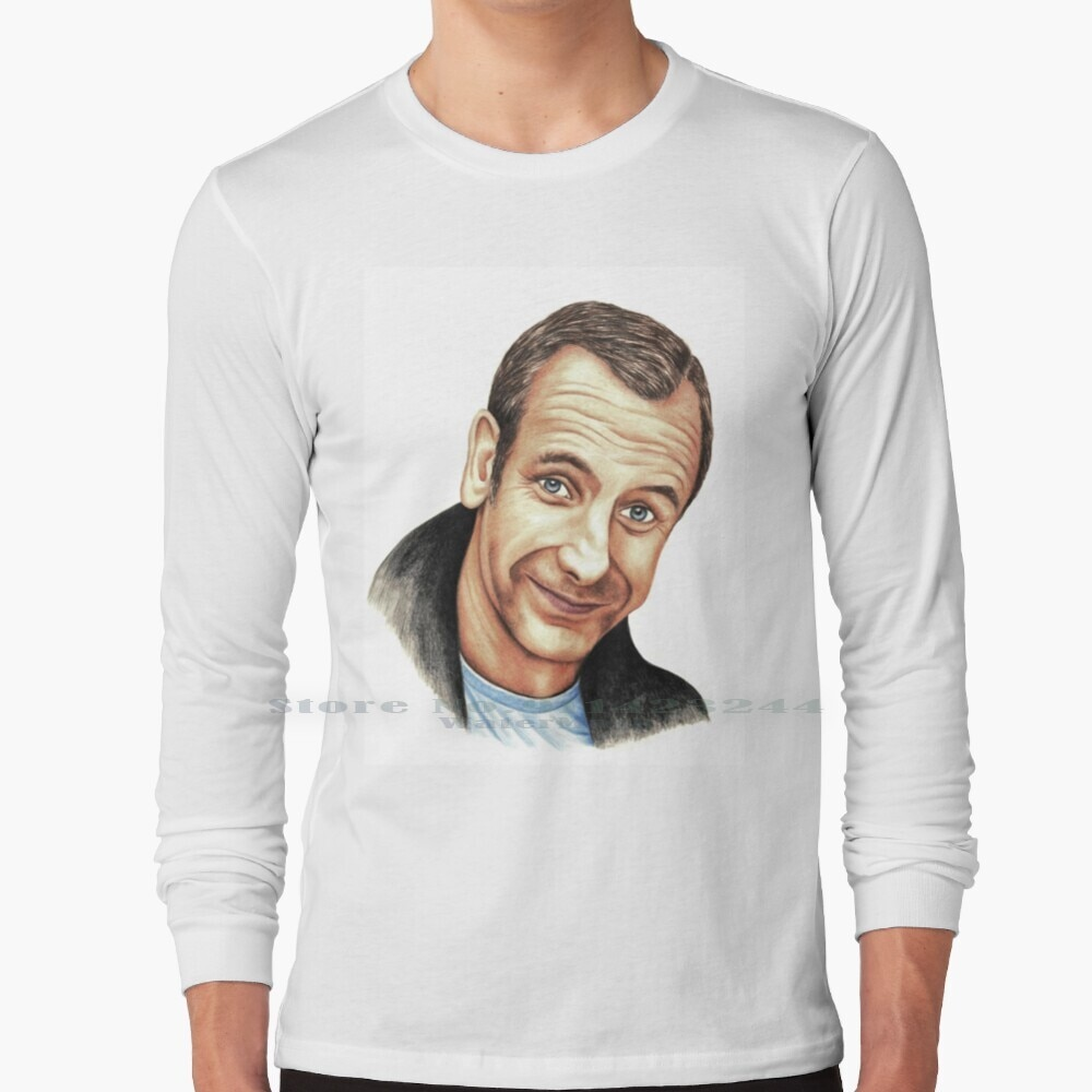 Robson Green Long Sleeve T Shirt Tee Northern Lights Geordie Actor Robson Green Portrait Margaret Sanderson Red Bubble Comedy
