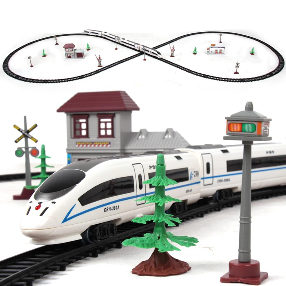 NFSTRIKE 1:87 Children Electric Simulation High-speed Rail Harmony Train Toy Set Sand Table Scene Train Track - L