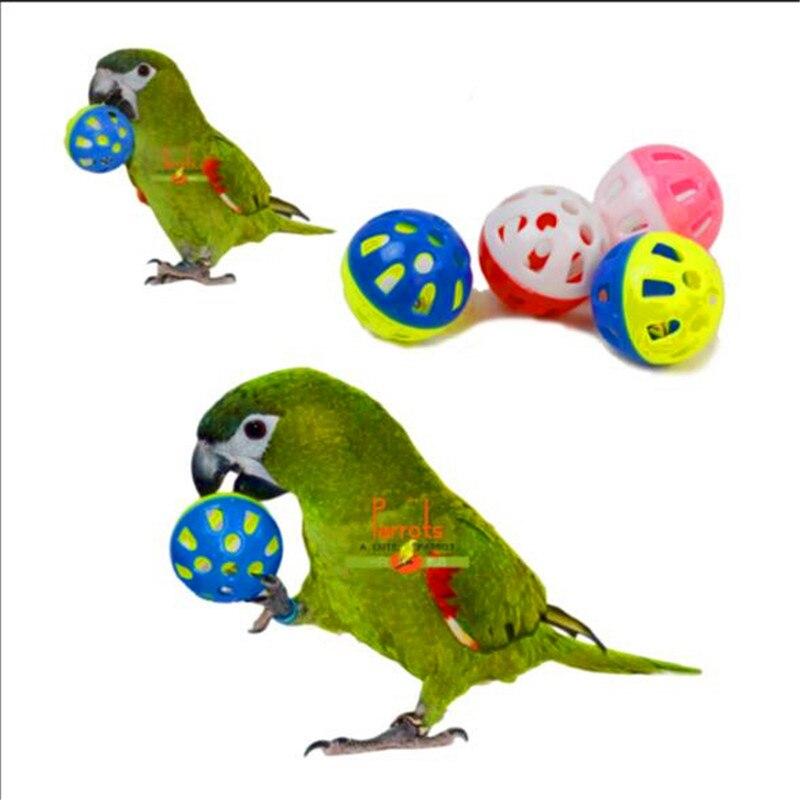 Juguete para loro pájaro hueco Bell bolas para periquito o cacatúa Ninfa Chew jaula Juguetes