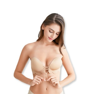 Sexy Self Adhesive Invisible Push Up Bras For Women Strapless Femme Seamless Wireless Invisible Bralette Silicone Freedom Bra