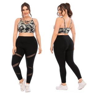 Sexy Fitness Clothing For Women Fashion Clothes Woman Trendy Yoga Set 3xl Plus Size 2x Leggings For Women Clothes 2020 Two Piece