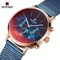 reward men watch top brand luxury fashion quartz mens watches steel waterproof wrist watch male chronograph relogio masculino