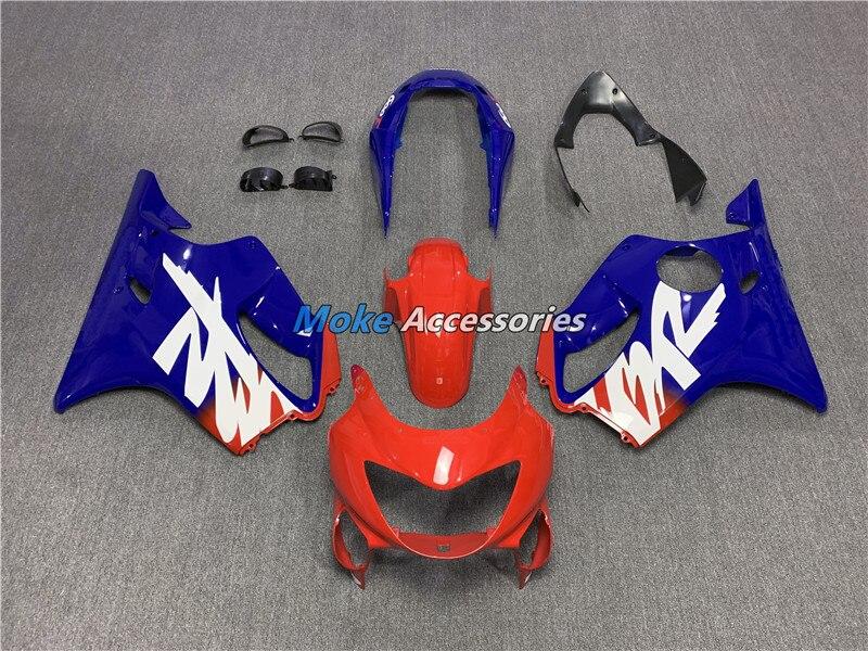 Kit carenagem para cbr600f f4 1999 2000 carroçaria caber injeção azul vermelho 2