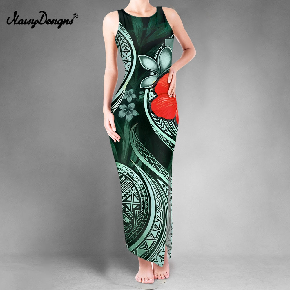 Noisydesigns-vestido con aberturas para Mujer, vestido veraniego De estilo veraniego, bohemio, Floral, De talla grande 4XL, 2021