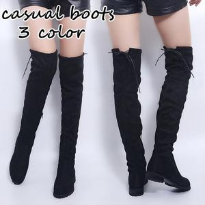 Women Fashion Black Boot Sexy Women High Boots Winter Boots Over The Knee Boots Slim Women Boots Suede Snow Boots Women Footwear