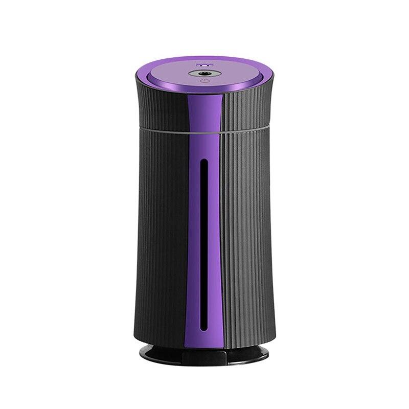 1100 ml umidificador com ventilador usb, 7-color night light e suporte do telefone móvel purificadores de ar usb para casa, yoga, escritório, spa, bebê
