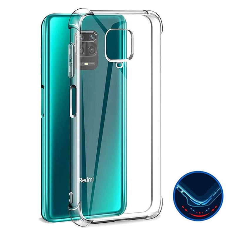Shockproof Silicone Case On For Xiaomi Redmi Note 9 8 7 6 Pro Max 8A 9S Transparent Case For Xiaomi