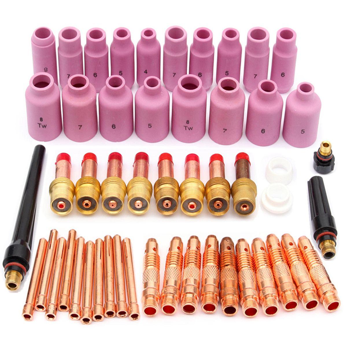 Ferramenta para wp Lente de Gás + 10 Eficiente Pyrex Copo Vidro Fácil Uso Prático Acessórios Kit Tocha Soldagem Arco Argônio Tig 17 – 18 26 51 Pçs