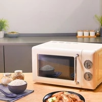 microwave oven retro household small multi functional mini turntable mechanical 20l