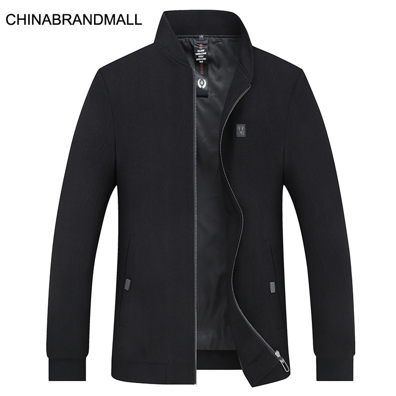 Autumn Men Fat Man Plus Fat Plus Size Baseball Collar Jacket Male Business Leisure Coat